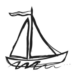 sailboat simple doodle