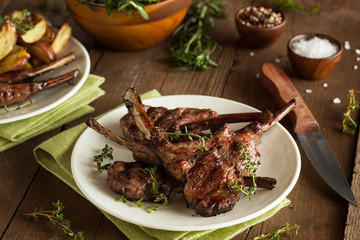 Wall Mural - Organic Grilled Lamb Chops