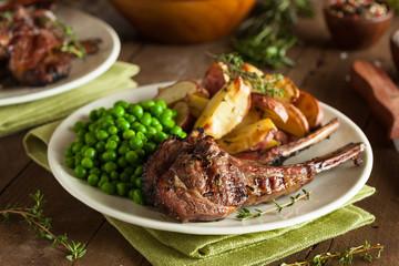 Wall Mural - Organic Grilled Lamb Chops