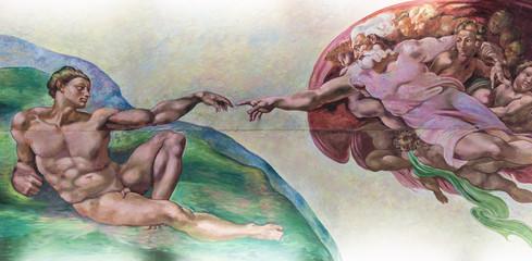 BANGKOK THAILAND - FEBRUARY 28 : The creation of Adam or God's t