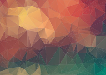 Retro pattern of geometric triangle background