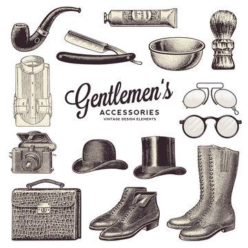 collection of gentlemen's accessories