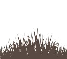 grass vector silhouette black