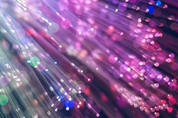 fiber optics lights abstract background Wall mural