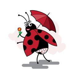 funny cartoon ladybug pinup