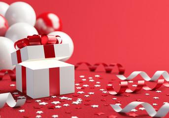 Gift box open