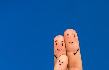 Happy fingers family
