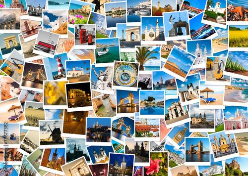 travel in europe collage stockfotos und lizenzfreie bilder auf bild 79677382. Black Bedroom Furniture Sets. Home Design Ideas