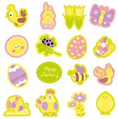 Happy Easter collection - vectors
