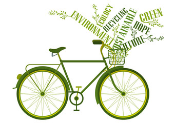 recycling words bicycle