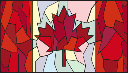 Canadian Stained Glass Window