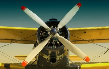 Obraz Samolot w stylu retro - fototapety do salonu