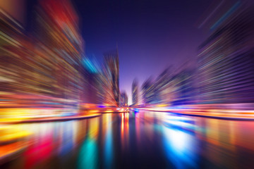 Abstract blur modern city background