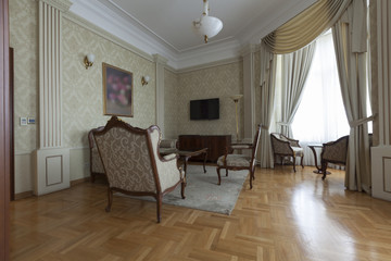 luxury apartment with classic furniture