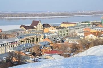 Виды Нижнего Новгорода зимой