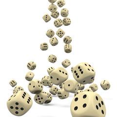 Würfel, Spielwürfel, fallend, Glücksspiel, Casino, Kasino, Dices