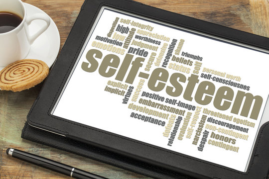 self-esteem word cloud