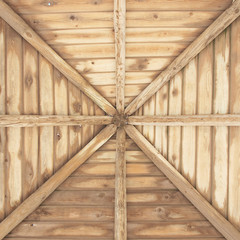 Wooden roof of a hut