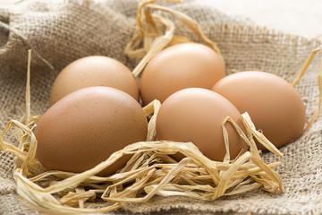 Eggs on Linen