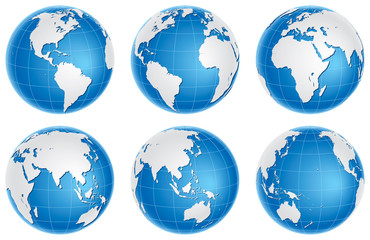 Globes blue set