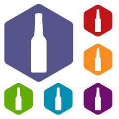 Bottle rhombus icons