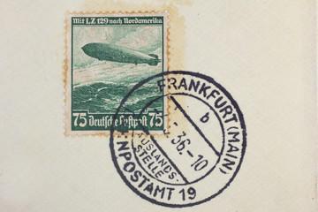 Poststempel Luftschiff LZ129 Hindenburg