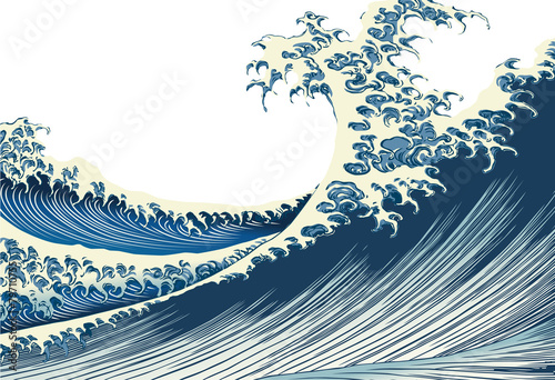 葛飾北斎 富嶽百景「海上の不二」イメージイラスト