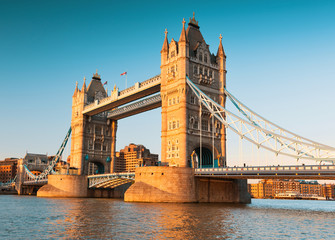 Wall Mural - Tower Bridge in London, toned image