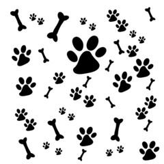 Dog paw and bone