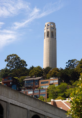 Coit Tower Hillside Neighborhood San Francisco California