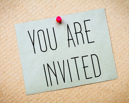 You Are Invited Message