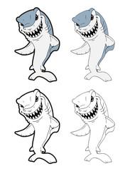 cartoon shark
