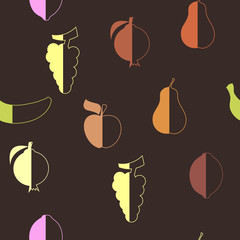 abstract seamless background with fruits
