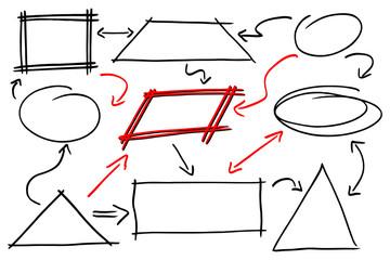 Hand gezeichnet Design Infografik Elemente