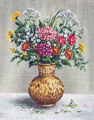 Painting Flowers in a African Vase