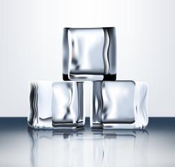 Transparent ice blocks