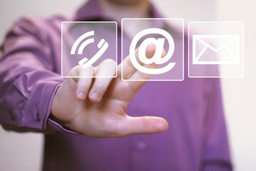 Business button web messaging mail sending icon set