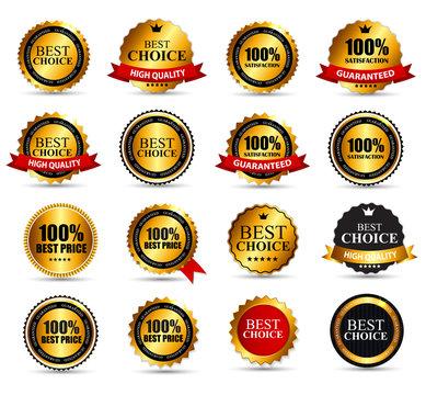 Best Choice Label Set Vector Illustration