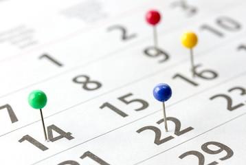 Kalender closeup