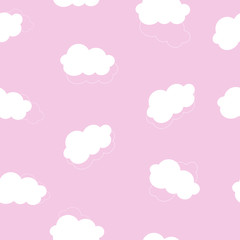 Seamless pattern baby background