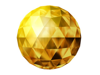golden prism ball