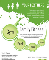 family fitness  infographic design, vector illustration.