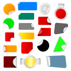 sticker color vector