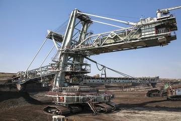 Large excavators in coal mine