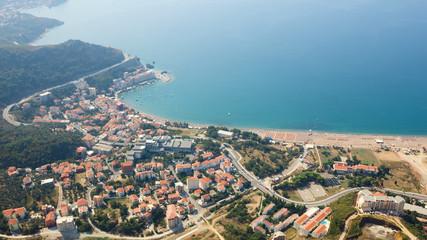 Montenegro, Rafailovici. view on sea beach