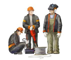 Welder, electrician, jack hammer worker, architect