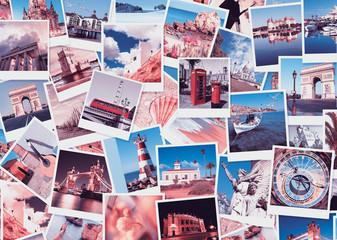 Travel in Europe, collage