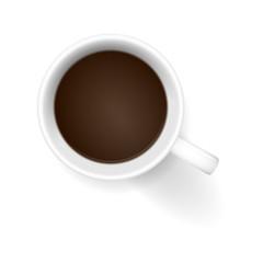 kaffetasse von oben braun I