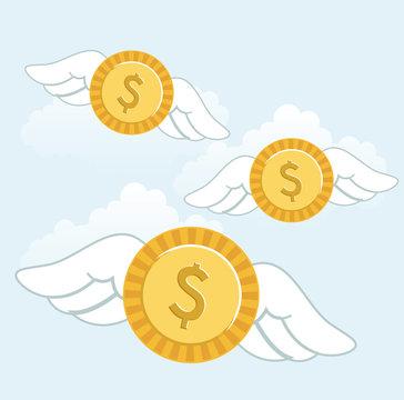 money fly
