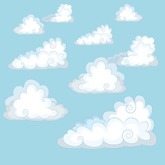 Clouds. Vector Illustration.